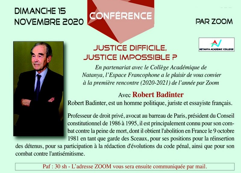 Justice difficile, Justice impossible